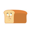 bread surprised emoji piece of bread astonished vector image vector image