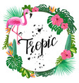 bright template with tropical plants flowers and vector image vector image