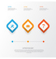 building icons set collection of service vector image