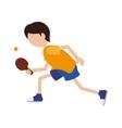 cartoon boy player ping pong vector image