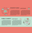 charity and donation banner vector image vector image