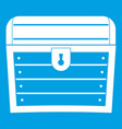 chest icon white vector image vector image