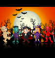 children in halloween costu vector image vector image