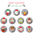 Christmas Santa and Animals vector image