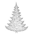 christmas tree from abstract futuristic polygonal vector image vector image