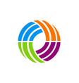 circle abstract colorful technology logo vector image vector image