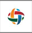circular abstract logo design vector image