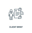 client brief icon thin line style symbol from vector image vector image