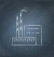 coal power plant chalkboard sketch vector image