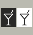 cocktail - icon vector image