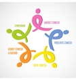 colorful awareness ribbons isolated over white vector image