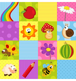 colorful seamless pattern with squares vector image vector image