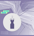 dress icon on purple abstract modern background vector image
