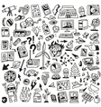 Ecology - big doodles set vector image vector image