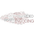 encoding word cloud concept vector image vector image