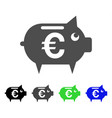 euro piggy bank icon vector image vector image