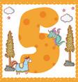 five number cartoon vector image vector image