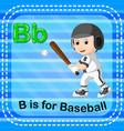 flashcard letter b is for baseball vector image