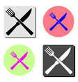 fork and knife flat icon vector image