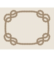 frame made from rope vector image vector image