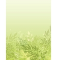 Fresh glowing spring plants vertical background vector image