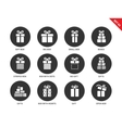 Gifts icons on white background vector image vector image