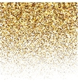 Gold glitter shine texture on a white background vector image vector image