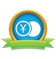 Gold yen coin logo vector image vector image