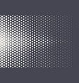 halftone hexagonal pattern abstract geometric vector image vector image