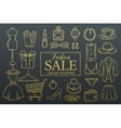 Hand drawn fashion online shop icons set vector image vector image