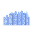 high building with window house or office vector image vector image