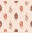 ice cream seamless pattern chocolate vector image vector image