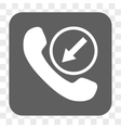 Incoming Call Rounded Square Button vector image vector image