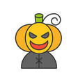 jack o lantern character halloween related icon vector image vector image