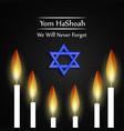 jewish yom hashoah remembrance day background vector image