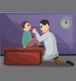 Kid pediatrician concept banner cartoon style