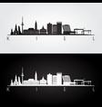 kiel skyline and landmarks silhouette vector image vector image