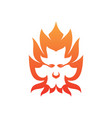 lion fire vector image