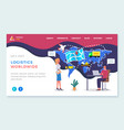 logistic website template cargo transportation vector image