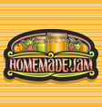 logo for homemade jam vector image