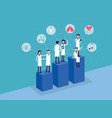 medical team health care and advisor vector image