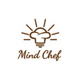 mind chef logo designs simple modern vector image