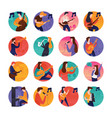 music and musicians icons vector image