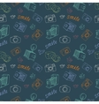Old camera pattern vector image vector image