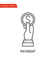 payment icon thin line vector image vector image