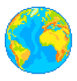 Pixel Earth globe isolated vector image vector image