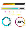 progress loading bar indicators download progress vector image
