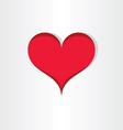 red heart valentine love icon design vector image vector image