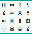 religion icons set with ketupat mosque adhaan vector image vector image