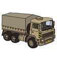 Sand military truck vector image vector image